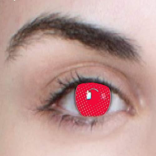 Phantasy eyes ® halloween lenti a contatto, (red mesh), occhi rosso, vampiri, zombie, usura annuale, non corrette: comode da indossare e ideali per halloween o carnevale! + custodia per lenti gratis!