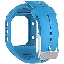 Silicona reloj banda correa de repuesto Flexible longitud ajustable pulsera Fitness para Polar A300reloj inteligente, azul