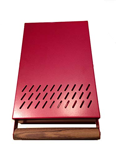 Kaffeesatz Schublade Profiline S grösse 20 x 30 x 5,5 cm der Abklopstab ist austauschbar mit edlem Holzgriff- Abschlagschublade rot beschichtet -