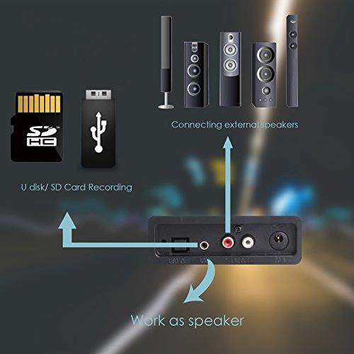 Miric Giradischi Bluetooth, Record Player a 3 velocità con
