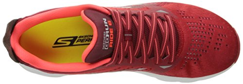 Skechers Herren Go Run Ride 6 Outdoor Fitnessschuhe Rot (Red)