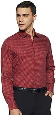DIVERSE Men's Printed Slim fit Formal S