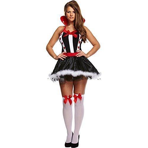 Kostüm Damen Sexy Queen of Herzen Verkleidung Outfit EU 36-40 (Königin Der Herzen Kostüm Tutu)