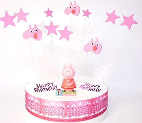 Peppa Pig-Set de decoración de tarta de cumpleaños