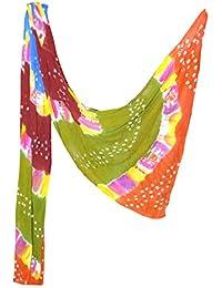 Fashion Store Women's Chiffon Jaipuri Bandhej Dupatta Stole,chunni (Multicolor, Free Size,) - B077TVKRXB