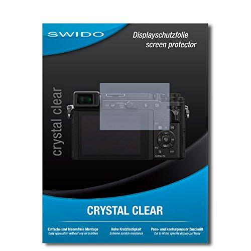 SWIDO Schutzfolie für Panasonic Lumix DC-GX9 [2 Stück] Kristall-Klar, Hoher Härtegrad, Schutz vor Öl, Staub & Kratzer/Glasfolie, Bildschirmschutz, Bildschirmschutzfolie, Panzerglas-Folie