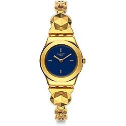 Swatch Reloj Analogico para Unisex de Cuarzo con Correa en Acero Inoxidable YSG153G