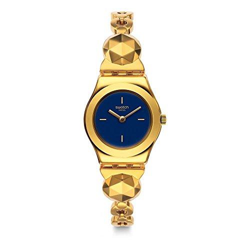 Swatch Reloj Analogico para Unisex de Cuarzo con Correa en Acero Inoxidable