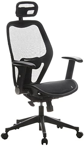 hjh OFFICE Air Port Mesh Office/Executive Chair - Black