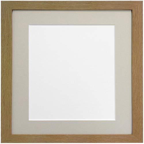 Frames By Post H7Bilderrahmen aus Eiche Breite 25mm mit hellgrau und dunkelgrau Halterung, MDF, Light Grey Mount, 20