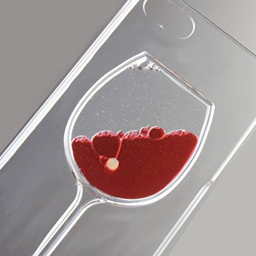 Yaobai-2015 New iPhone 4/4s Case Coque Housse Etui Transparent Clair Cristal dur plastique Cover šŠtui de protection Liquide se šŠcoulant Bling Glitter Sparkles pour iPhone 4/4s