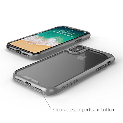 Coque iPhone X, Snugg Apple iPhone X Pare-Choque Couvercle [Arrière Transparente] TPU Housse Bumper Etui Ultra-Slim