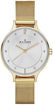 ساعة للنساء بسوار من الستانلس ستيل ومينا باللون الفضي من سكاجين طراز SKW2150