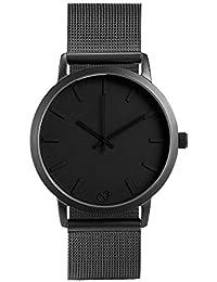 eb2ffc78c658 gaxs Watches Jordan Hombre Reloj de pulsera Negro con malla acero  inoxidable gris mate