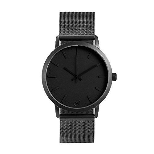 gaxs-watches-jordan-homme-montre-bracelet-noir-avec-maille-acier-inoxydable-gris-mat
