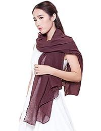 Sanwood® Damen Baumwolle Leinen Schal Wrap Schal, Schal Farbe Stola
