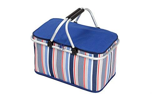 Starhome borsa termica da campeggio da picnic lunch box cooler picnic basket cestino 32l