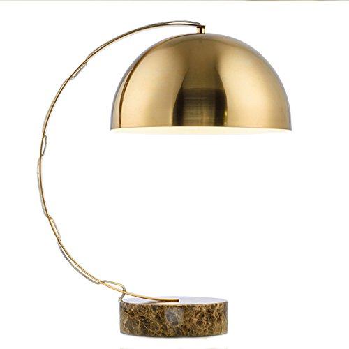 Preisvergleich Produktbild Gohoo US-amerikanische Metal plating Marmorsockel Lampe Wohnzimmer Tisch Lampe modern-Studie der kreative Schlafzimmer Tischleuchte