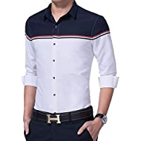 IndoPrimo Men's Cotton Casual Shirt for Men Full Sleeves (White, X-Large - 44)