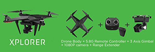 XIRO Xplorer Professionelle Quadcopter (V Version) mit externer Auswerteelektronik, Gimbal und 1080p HD-Video-Kamera - 6