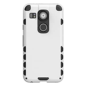 Defender Nexus 5X Case, Slim Fit Heavy Duty Rugged Back Case Cover For Google Nexus 5X - White