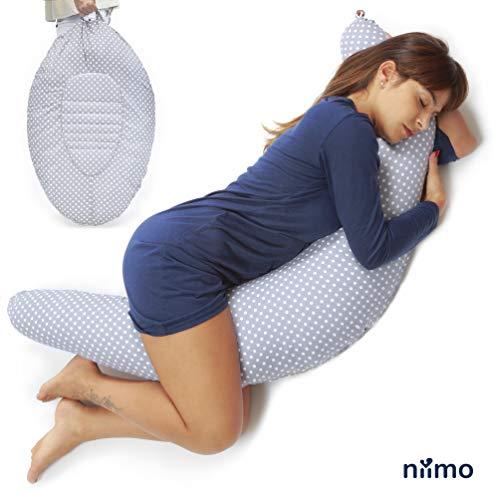 Niivetto Almohada Embarazo Dormir y Cojin Lactancia Bebe XXL Nido Bebe Funda 100% Algodon Desenfundable...