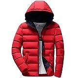 Manadlian Herren Steppjacke Männer Beiläufig Warm Mit Kapuze Winter Reißverschluss Mantel Outwear Jacke Tops Bluse