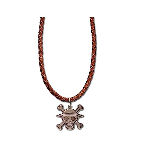 One Piece Luffy Pirata Calavera banda de cuero collar