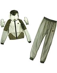 MagiDeal Set Vêtements Anti-moustiques Insecte Abeilles Veste Pantalon et Gants en Mailles pour Pêche en Plein Air