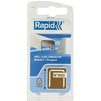 Agrafe n°980 Rapid Agraf - Hauteur 8 mm - 1080 agrafes