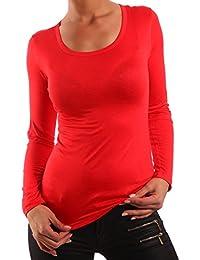 Young Fashion Basic Shirt Longsleeve Langarm Shirt Damen