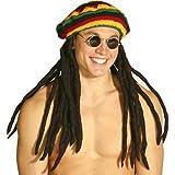Rasta Imposta 1215 Mehrfarbiges Original Rastafari-Kostüm mit Dreadlocks (Einheitsgröße)