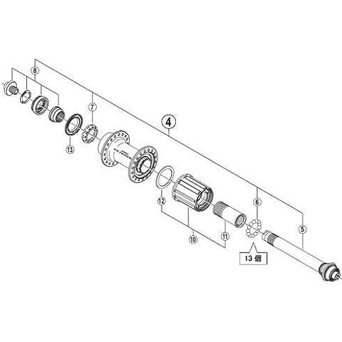 Shimano 49398030 - Eje Completo Buje Trassero Fh-6800 10-11V
