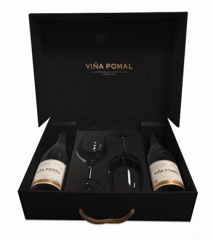 Viña Pomal - Vino Tinto Centenario Reserva Rioja Con Dos Copas