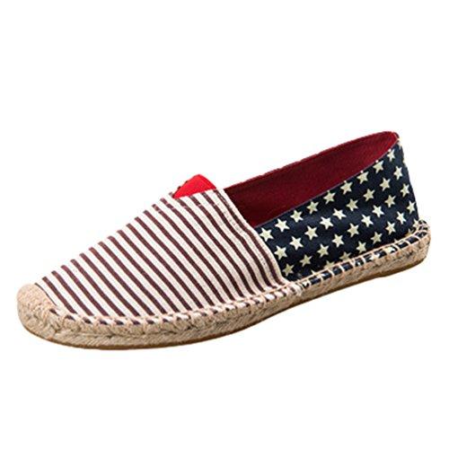 Dooxii Unisex Uomo Donna Durevole Casuale Loafers Scarpe Moda Tinta Unita Espadrillas Basse Scarpe Slip On Flats 39(24.5cm)