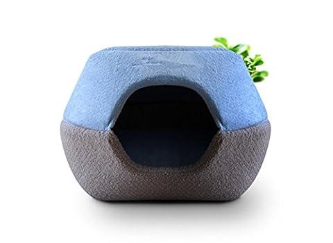 Umall 2en 1Peluche Grotte et lit pour chiens de petite taille Maison Intérieur Chats Canapé Coussin moelleux Igloo rond Lits Maison