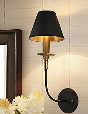 Restoring Ancient Ways Is The Head Of A Bed Lamp Hanging In The Bedroom, Wrought Iron Wall Lamp , 220-240v-YU&XIN