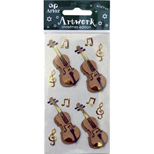 Violine Geige, Musik-Noten Motiv Musical-Verzierung, zum Basteln und Scrapbooking