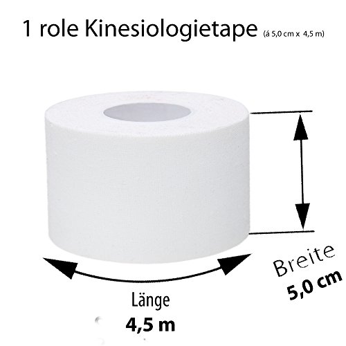 Ziatec Pro Kinesiologie Tape - viele Farben und Packs verfügbar - Physio-Tape - Sporttape 100% Baumwolle, Farbe:1 x blau / 1 x rot - 8