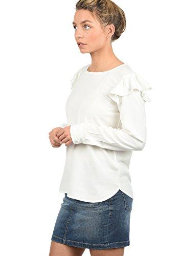 ONLY Smilja Damen Lange Bluse Hemdbluse Langarm Mit Rundhals Und Optional Mit Nadelstreifen Regular Fit, Größe:40, Farbe:Cloud Dancer