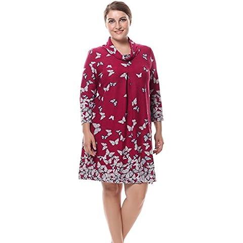 Chicwe Vestido tallas grandes con cuello de la capucha de cachemira táctil de las mujeres
