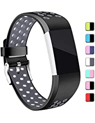 Mornex Strap Compatible Charge 2 Strap Bands,Soft TPU Sports Wristbands Bracelet Replacement Straps Breathable Holes, Adjustable Watchband