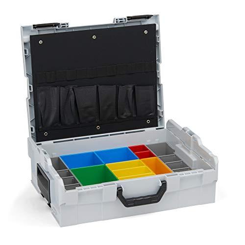 Bosch Sortimo Werkzeugkoffer-Set • L-Boxx 136 grau • bestückt mit Ordnungssystem Insetboxen-Set H3 und Werkzeugkarte 1
