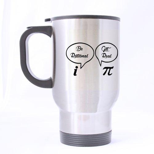 Funny Joke Mug rigolo - pailles à être Rational Optez pour 4 tasses Geek Nerd Math Math Joke Voyage en acier inoxydable Thé Mug/tasse à thé - 396,9 gram