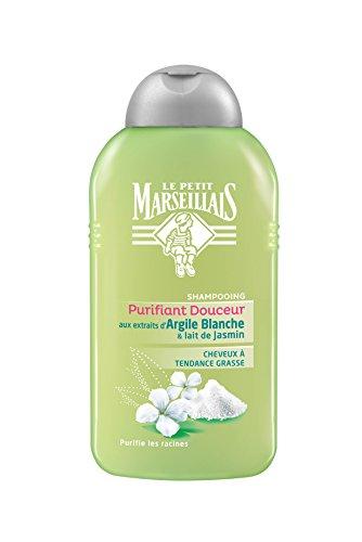 Le Petit Marseillais - Shampoo ingrassaggio Vite Argilla Bianca - Latte Jasmin - 250 ml flacone - Confezione da 3