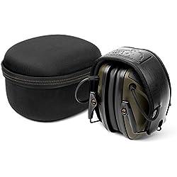 Protector auditivo electrónico GF01 de Awesafe para la caza y el tiro al blanco, con reducción de ruido y amplificación de sonido con seguridad electrónica, protección auditiva con un nivel de reducción de ruido (NNR) de 22 dB. Ideal para la caza y el tiro al blanco (color verde clásico)