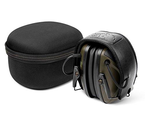 Paraorecchie elettronici per la caccia con borsa da viaggio dura da viaggio, riduzione del rumore e aumento del suono aweafe gf01+, protezione per le orecchie, nrr 22 db, ideale per sparare e cacciare