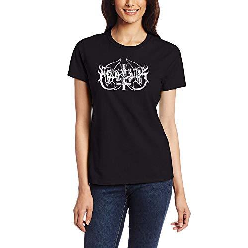 DAXIANIU Damen T-Shirts Marduk Logo Cotton T-Shirts Black