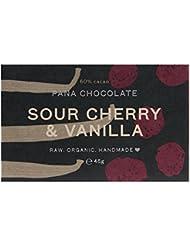 Pana Organic Raw Vegan Sour Cherry Vanilla Chocolate, 45 g