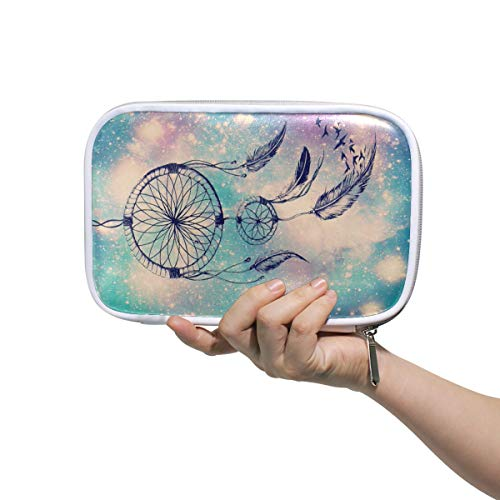 Funnyy Boho - Estuche de viaje con cremallera, diseño étnico de atrapasueños